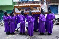 Шествие страстной пятницы в Ла Paz, Боливии стоковая фотография