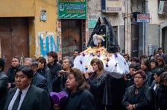 Шествие страстной пятницы в Ла Paz, Боливии стоковые изображения