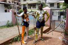Шествие танца тигра стоковое изображение