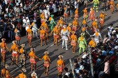 Шествие танца тигра стоковое фото
