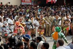 Шествие танца тигра стоковое изображение rf