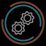 Шестерни вектора - значок cogs - символ установок иллюстрация вектора