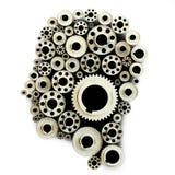 Шестерни в форме людской головки Стоковое Изображение RF