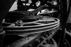 Шестерни в черной & белизне стоковое изображение