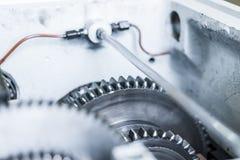 Шестерни коробки передач машины металл-вырезывания Стоковое Изображение RF