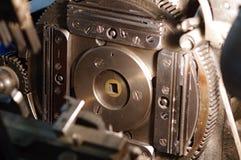 Шестерни линотипа на магазине газеты Стоковые Фотографии RF
