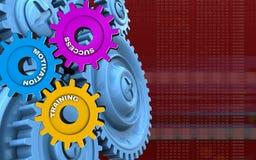 шестерни сини 3d Стоковые Изображения