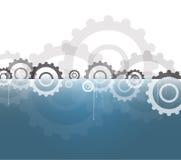 Шестерни технологии машины ретро bacground механизма gearwheel Стоковые Изображения RF