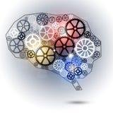 Шестерни формы мозга Стоковые Фотографии RF