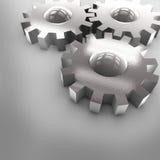 шестерни хрома 3D Стоковые Фотографии RF