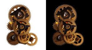 шестерни шестерни поворачивая сбор винограда Стоковые Фото