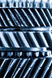 Шестерни, cogwheels grunge, реальная предпосылка элементов двигателя Тяжелая индустрия Стоковая Фотография RF