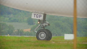 Шестерни widebody самолета акции видеоматериалы