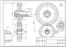 Шестерня графического чертежа стоковые изображения rf