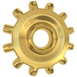 шестерня золотистая Стоковые Изображения