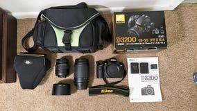Шестерня камеры Nikon стоковые фото