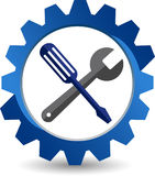 Шестерня оборудует логотип Стоковые Фотографии RF