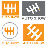 Шестерня логотипа автомобиля Стоковые Фотографии RF