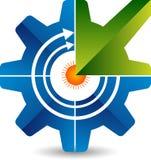 Шестерня с логотипом стрелки Стоковые Фото
