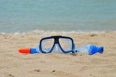 Шестерня шноркеля морем Стоковая Фотография RF