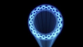 Шестерня Cogwheel в стиле Wireframe Hologram Славный перевод 3D иллюстрация штока