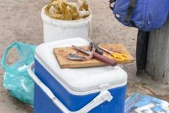Шестерня Fishermans стоковая фотография rf