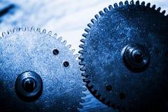 Шестерня Grunge, колеса cog Концепция промышленного, наука Стоковые Фото