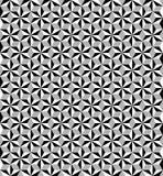 Шестиугольная безшовная черно-белая картина плитки иллюстрация вектора