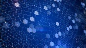 Шестиугольная предпосылка анимации графиков движения сток-видео
