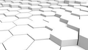 Шестиугольная предпосылка с белой формой иллюстрация штока