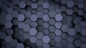 Шестиугольная решетка Анимация абстрактной технологии видеоматериал