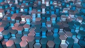 шестиугольная решетка 4K иллюстрация штока