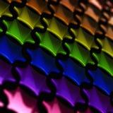 шестиугольники градиента как сделанная радуга Стоковые Фотографии RF