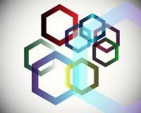 шестиугольники предпосылки Стоковые Изображения