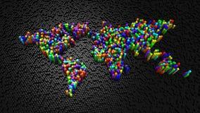 Шестиугольники сформировали карту мира