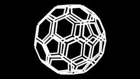 Шестиугольные и pentagonal рамки как форма футбольного мяча поворачивают вокруг перевод 3d иллюстрация вектора