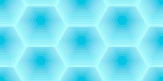 Шестиугольный сот пчелы голубого цвета, vector безшовная картина иллюстрация вектора