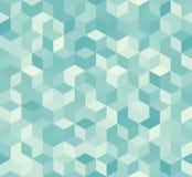 Шестиугольная голубая безшовная картина иллюстрация вектора