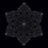 Шестиугольная звезда Геометрическая диаграмма полиэдрон контура иллюстрация вектора