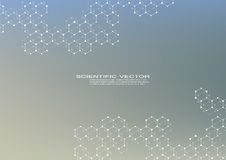 Шестиугольная молекула молекулярная структура генетический и химическое соединение Химия, медицина, наука и техника бесплатная иллюстрация
