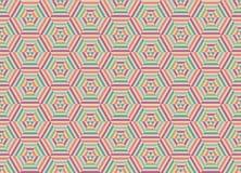Шестиугольная предпосылка картины, абстрактная предпосылка, абстрактный вектор Стоковая Фотография