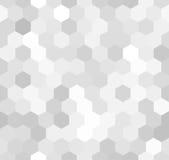 Шестиугольная свет-серая безшовная картина иллюстрация штока
