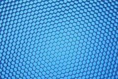 Шестиугольная сетка на голубой предпосылке Стоковые Фотографии RF