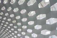 Шестиугольная структура крыши стоковое фото