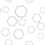 шестиугольники делают по образцу безшовное Стоковые Изображения