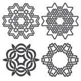 Шестиугольные декоративные символы Стоковое Изображение RF