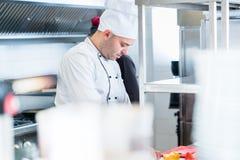 Шеф-повара в их деятельности кухни Стоковые Фото