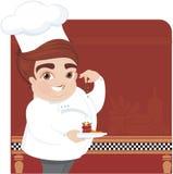 шеф-повар варя детенышей бесплатная иллюстрация