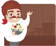 шеф-повар варя детенышей иллюстрация вектора