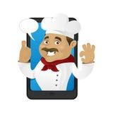 Шеф-повар внутри телефона Стоковые Изображения RF